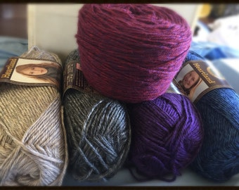 Lion Brand Heartland Yarn-4 Skein Lot