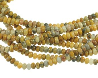 """Crazy Lace Agate 5x8mm Rondell Gemstone Beads - Full 16"""" Strand - About 80 Beads - Incredible Natural Patterns"""