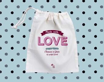 cotton canvas drawstring bag Wedding, goodie bags, wedding bags, gift bags, drawstring gift bags
