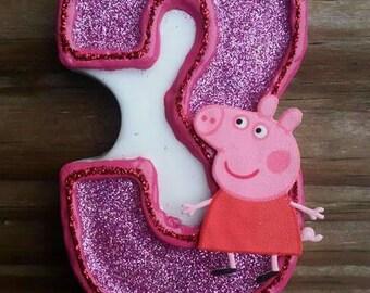 Pig Birthday Candle