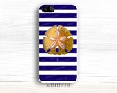 Shell iPhone 6S Case, Blue Stripes iPhone 6 Case, iPhone 5C Case, iPhone 5S Case, iPhone 6 Nautical Case, iPhone 6 Plus Sand Dollar Case, 4S