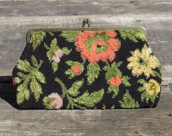 Vintage Floral Clutch or Wallet
