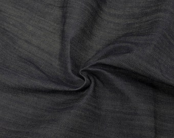 Dark Blue Solid New Flint Cotton Denim Fabric or by the yard denim fabric - 1 Yard 61234
