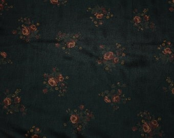Black Floral Print Chiffon Fabric Style 8074