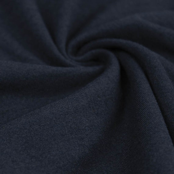 Navy chambray dty poly spandex 2tone brush dty stretch knit for Space dye knit fabric by the yard