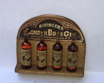 "Dollhouse Miniature Antique Gin Display 1"" scale   (JL)"
