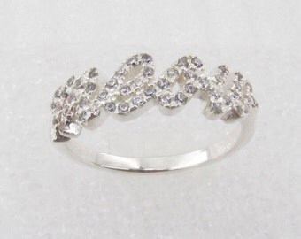 Pro Love - Meow CZ Ring Sterling Silver