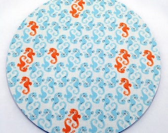 Seahorse Mouse Pad / Computer / Office Decor / Coworker Gift / Home Decor / Teacher Gift / Office Supplies / Desk Decor / Nautical / Ocean
