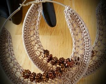 Beaded Crochet Hoop.