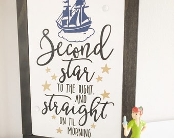 Second star to the right and straight on till morning. Peter pan quote