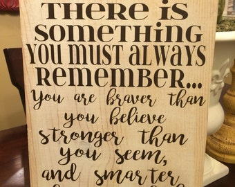 Distressed Winnie the Pooh quote wood sign
