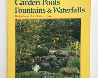 Koi pond design etsy for Garden pond design books