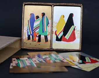 Vintage Playing Cards - Fred Harvey Playing Cards -  Indians of Southwest Native American - Vintage Deck of Cards - U.S. Playing Card Co -