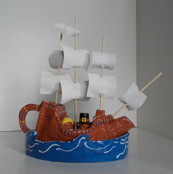 Made to Order:  Mayflower Gravy Boat, Sea Saucer and Quaker Shakers
