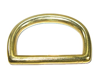 "2"" Solid Brass D-Ring 50mm"