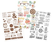 Simple Stories - Carpe Diem - The Reset Girl Planner Collection - Clear Stickers - 88 pieces - 4996