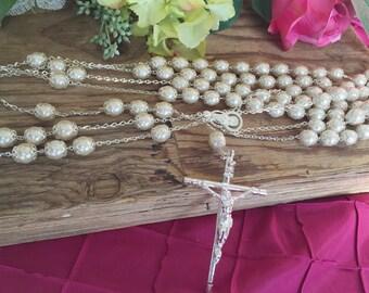 Swarovski Crystal Pearls wedding lasso/lasso de bodas en perlas de crystal/ wedding laso/ lazo de Boda color ivory/ extra long wedding lasso