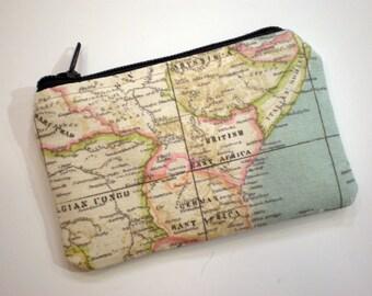 Coin purse, Small zipper pouch, Card wallet, Gift idea