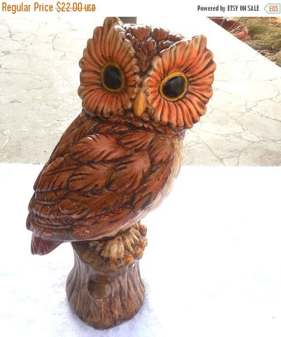 Owl Decor Handmade Ceramic Owl Beautifully By Vintageelations