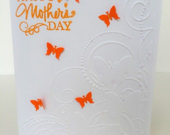 Handmade Mother's Day Card, Butterfly Card, Card for Mom, Grandmothers  Mother's Day Card, Orange Butterflies, Mom Card, Aunt Card, Mum Card