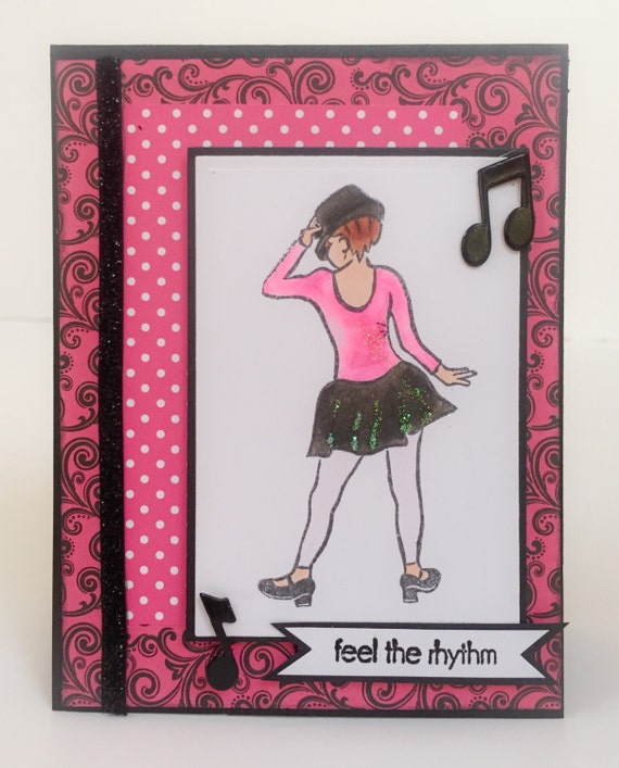 handmade dance card dancer birthday card tap dancer dance, Birthday card