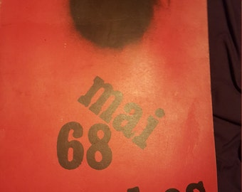 Original  1968 TCHOU  Mai 68' french student  protest posters. Le Front Populaire