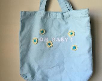 Baby Tote Bag, diaper bag, gift
