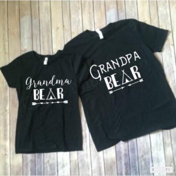 Grandma Bear Grandpa Bear Shirt Set