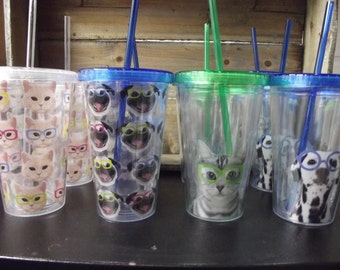 16 oz animal tumblers with personalization possible