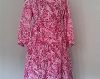 Pink Vintage 70's dress