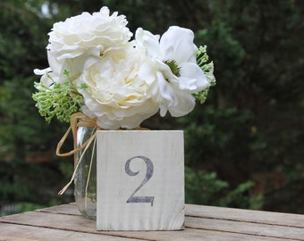 Rustic  Wood Table Numbers Set of 15 , Shabby Chic, Wedding table numbers, Rustic Wedding Decor, Country Wedding Decor, Wood Table Numbers