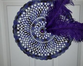 """12"""" Crocheted Mandala - Purple Skys"""