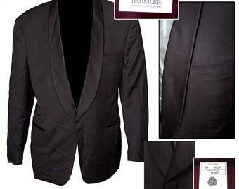 50s Style Tux Jacket / Tuxedo Jacket / Rockabilly Tux Jacket / Classic Tux