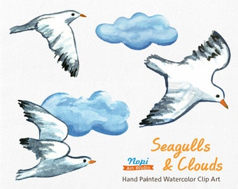 Seagull clip art – Etsy