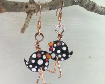Dancing Chicken Earrings