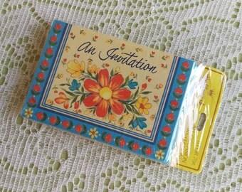 Vintage 1970's Set Of 8 Hallmark Cards All-Occasion Invitations