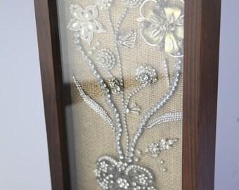 Bouquet of Love Rhinestone Framed Jewelry Art