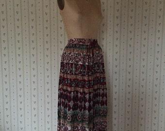 Indian Summer Bohemian maxi skirt / made in India boho hippie maxi skirt / SML