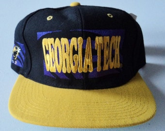 Vintage Georgia Tech Yellow Jackets Deadstock Snapback Hat NCAA VTG
