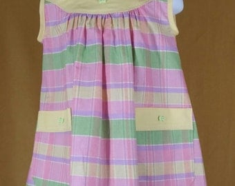 Pastel plaid  toddler dress