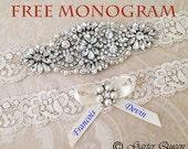20% OFF Ivory Lace Garter Set, Wedding Garter, Bridal Garter set, Rhinestone Garter, Ivory Garter, Crystal Garter