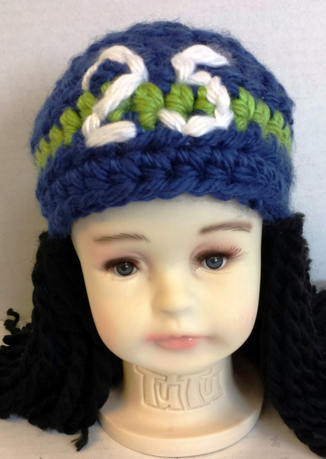 Seattle seahawk richard sherman dreadlocks crochet hat zoom bankloansurffo Gallery