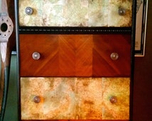 SOLD Custom Piece - Masculine Magellan Inspired Chest of Drawers, dresser, maps, industrial