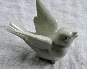 Vtg Porcelain Dove White Porcelain Edsin Japan Dove