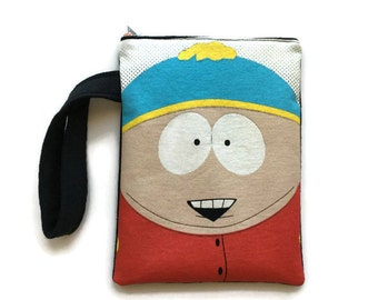 Cartman South Park Bag • Upcycled T-shirt Purse • Clutch • Wristlet