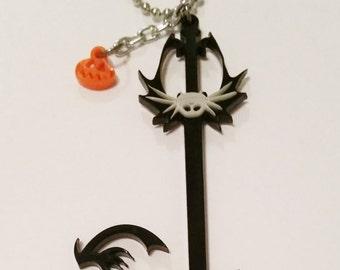 Kingdom Hearts Pumpkinhead Keyblade Necklace