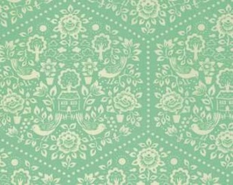 Heather Bailey Clementine 'Summerhouse' in Turquoise Cotton Fabric