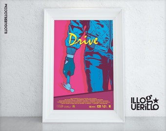 Drive Movie Poster Art // Ryan Gosling Minimalist Film Print // 11x17 Original Wall Decoration Design