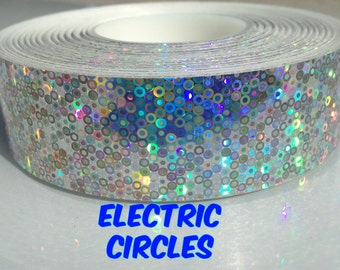"1"" Electric Circles Metallic Hula Hoop Tape"