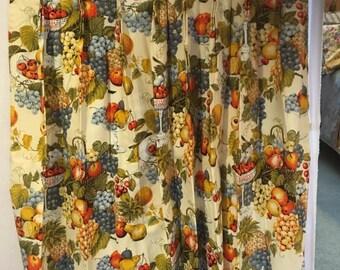 Vintage Barkcloth Drapes-PRICE REDUCED!
